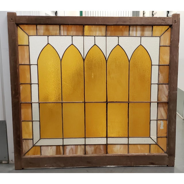 Large Late 19th Century Stained Glass Window Panel C.1880 For Sale - Image 11 of 12