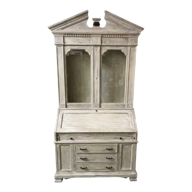 American Classical Secretary Desk With Hutch For Sale