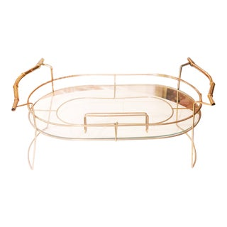 Vintage 1960s Hollywood Regency Brass Bed Tray For Sale