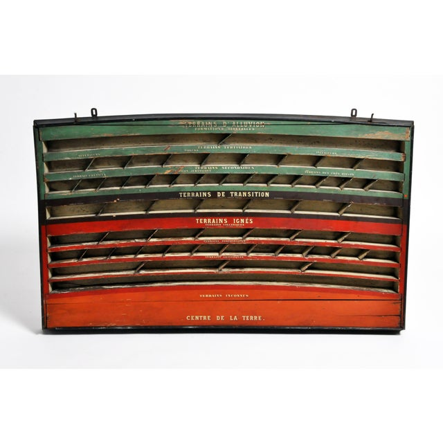 Mid 20th Century Mid 20th C. French Geology Wall Display For Sale - Image 5 of 13