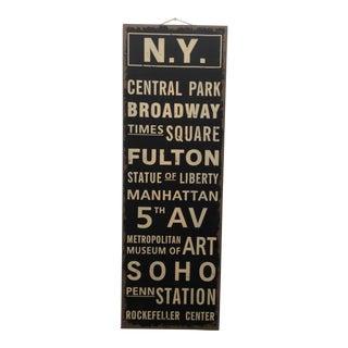 New York City Train Station Destination Sign