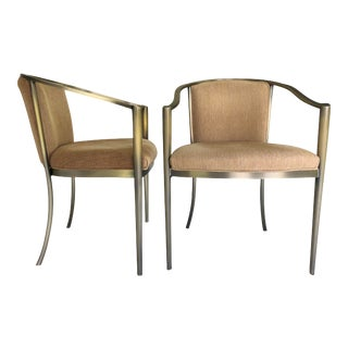 1990s Vintage Design Institute of America, Dia Metal Side Chairs- a Pair For Sale