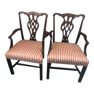 Chippendale Style Arm Chairs by Councill Usa - a Pair For Sale