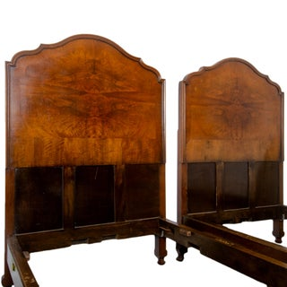 French Walnut Twin Beds - a Pair Preview