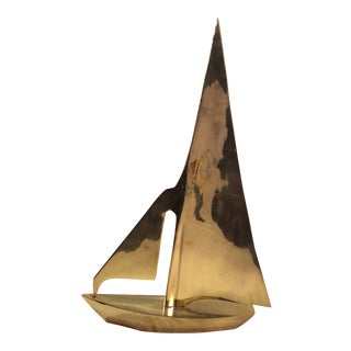 Brass Sailboat Sculpture For Sale