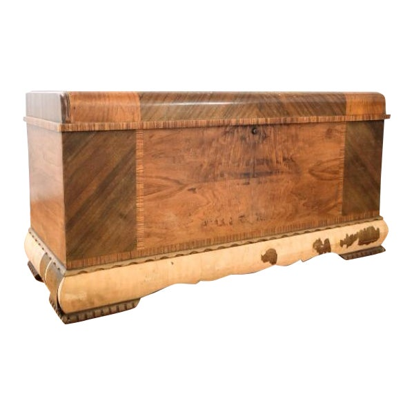 Art Deco Lane Cedar Chest Trunk - Image 1 of 9