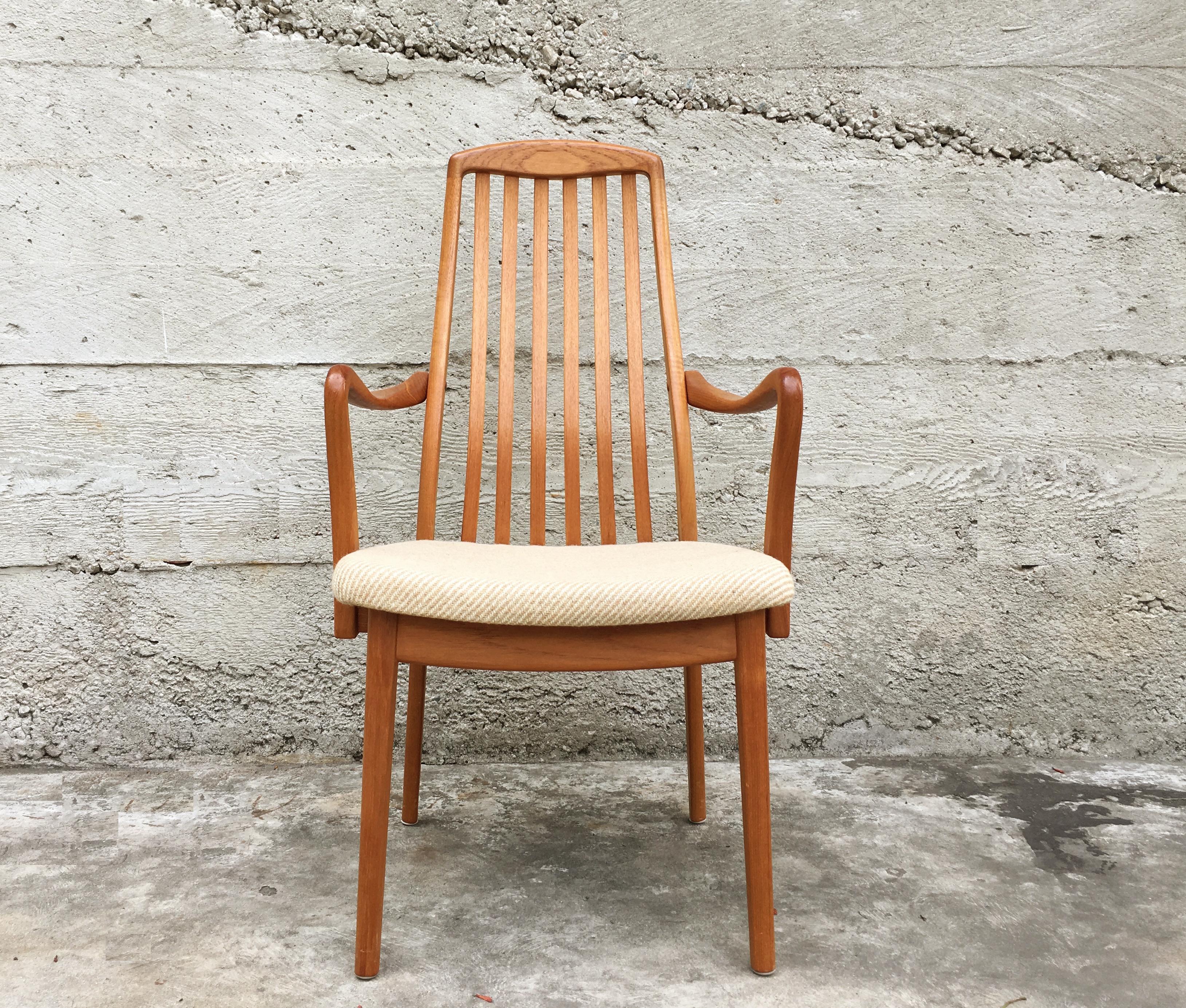 Danish Slat Back Teak Dining Chairs   Set Of 6   Image 4 Of 10