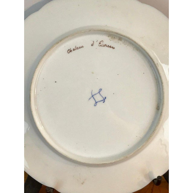 Pair of Sevres Chateau Plates For Sale - Image 4 of 13