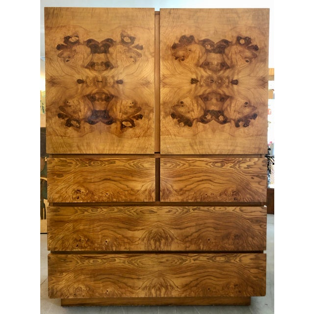Wood Burl Wood Cabinet by Lane Altavista For Sale - Image 7 of 7