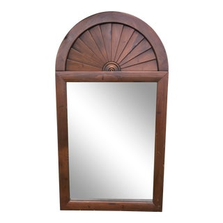 1970s Mid-Century Modern Fan Top Mirror For Sale