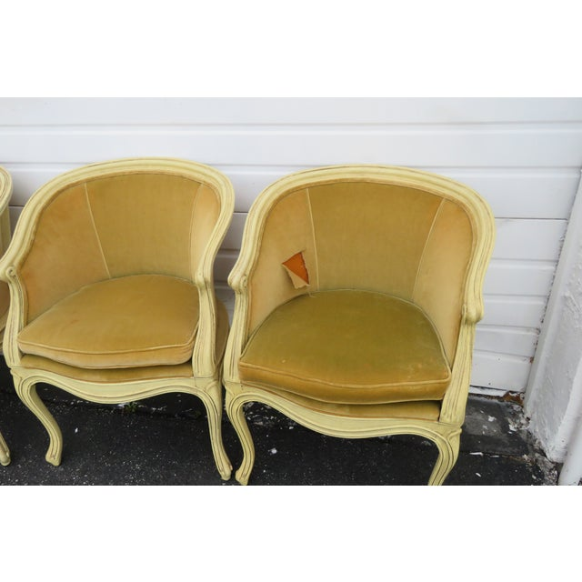 French Burl Shape Four Side Chairs by Jamestown Lounge Co 2112 For Sale - Image 9 of 13