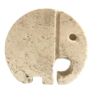 Mid Century Fratelli Mannelli Travertine Elephant