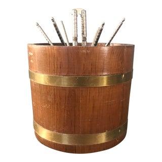 Wooden and Brass Nutcracker Set