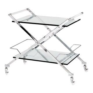 Glass Serving Bar Cart   Eichholtz Loft For Sale