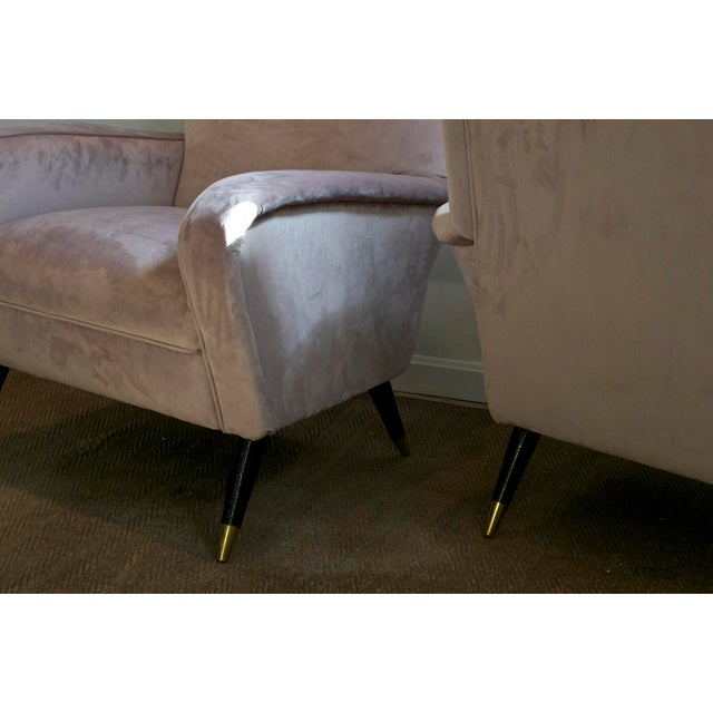 Mauve Luxe Lounge Chairs in Lilac For Sale - Image 8 of 11