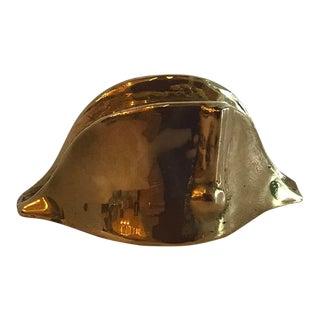 Vintage Brass Spanish Conquistador Hat For Sale