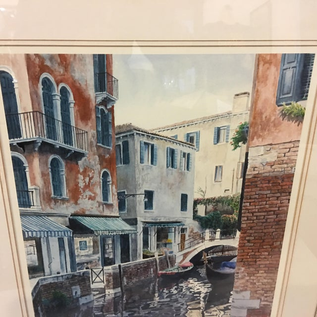 "1990s ""Venice Scene"" Artist Proof Signed Lithograph For Sale - Image 5 of 10"