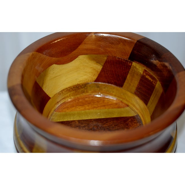 Contemporary Wooden Pedestal Bowl For Sale - Image 4 of 9