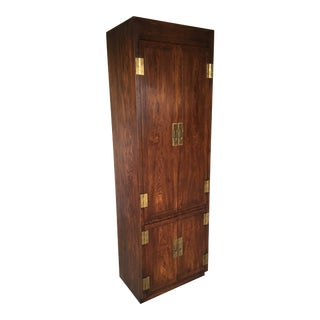 Henredon Folio 16 Campaign Style Wall Cabinet For Sale