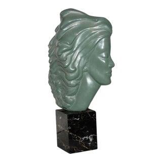 Vintage Modern Alva 78 Sculpture Head of a Woman For Sale