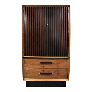 Mid Century Modern Lane Furniture Armoire For Sale