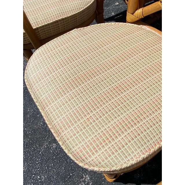 Late 20th Century Vintage Coastal Ficks Reed Chinese Chippendale Bamboo Dining Chairs - Set of 8 For Sale - Image 5 of 13