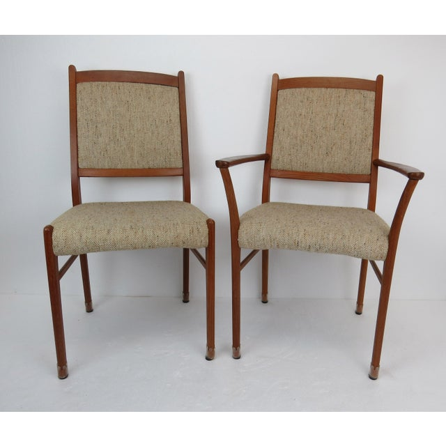 Mid-Century Modern 1960s Sculptural Mid-Century Modern Danish Teak Dining Chairs - Set of 4 For Sale - Image 3 of 13