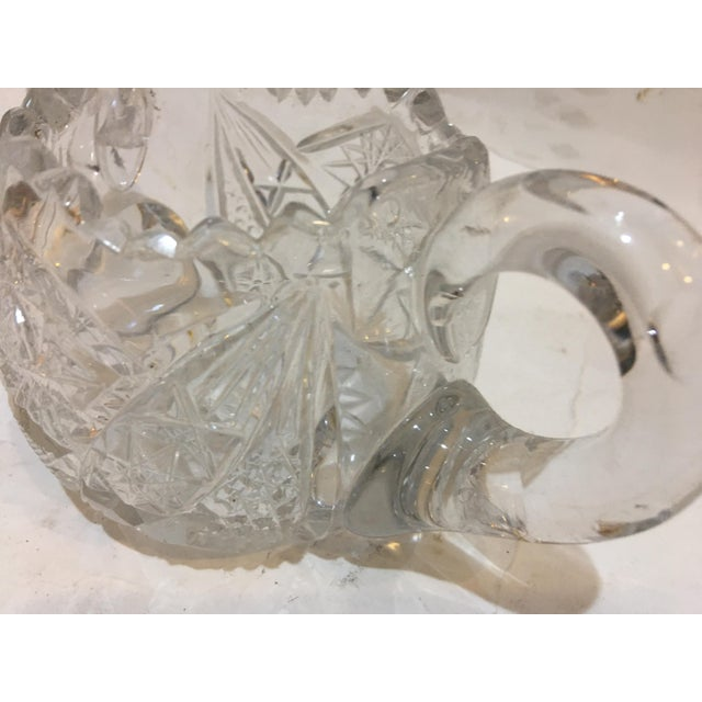 Transparent Mid-Century Cut Glass Sugar Bowl For Sale - Image 8 of 11