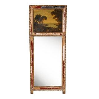 Antique Italian Trumeau Mirror