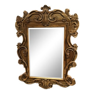 Lorts Furniture Rococo or Baroque Solid Wood Wall Mirror For Sale