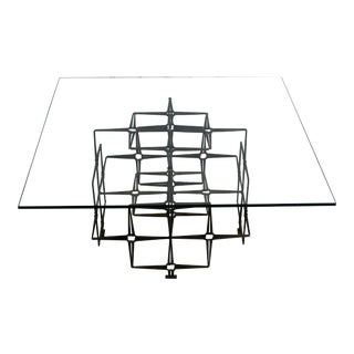 Mid-Century Modern Tri Mark Studio Brutalist Nails Coffee Table in Evans Style For Sale
