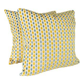 "22"" Maxwell Artusi Cut Velvet Pillows, Pair For Sale"