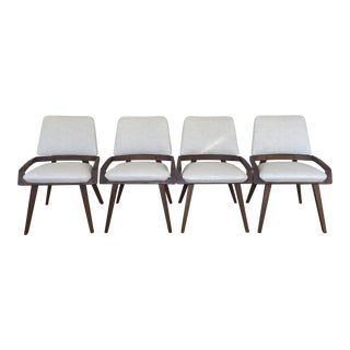 Mid Century Modern John Keal for Brown Saltman Refinished Chairs- Set of 4 For Sale