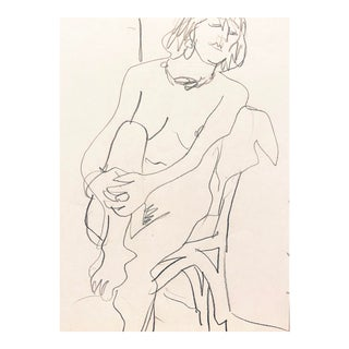 'Seated Nude' by Victor Di Gesu, California Post-Impressionist, Paris, Louvre, Academie Chaumiere, San Francisco Art Association For Sale