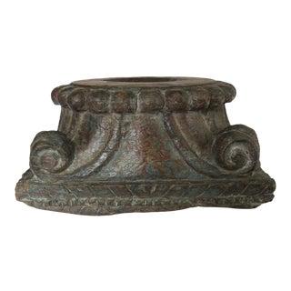 Antique Large Decorative Carved Wooden Candle Holder Stand Pedestal Platform