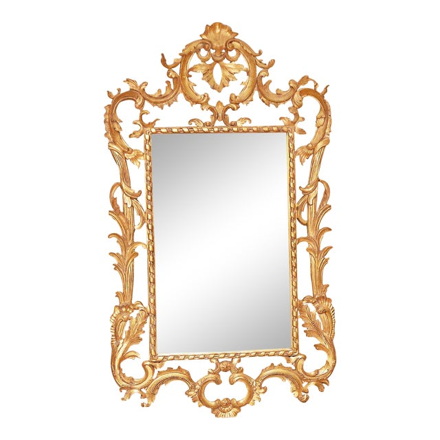 Rococo Style Giltwood Mirror - Image 1 of 3