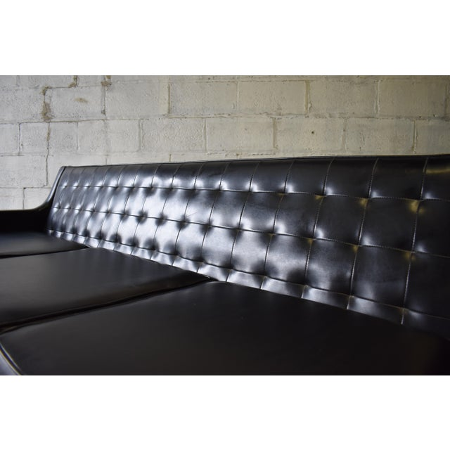 "Mid Century Modern ""James Bond"" Tufted Sofa / Couch - Image 4 of 9"