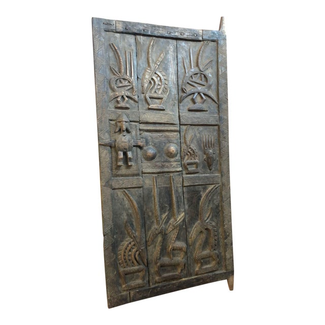 Early 20th Century Antique Tribal Senufo Door For Sale
