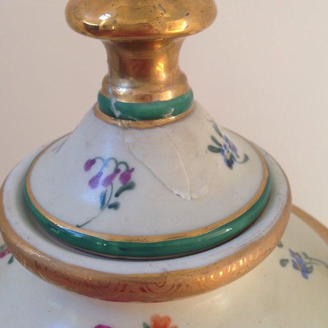 Floral Porcelain Urns - A Pair For Sale - Image 10 of 11