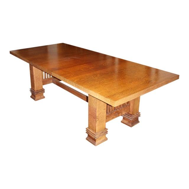 Vintage Handmade Prairie Style Dining Or Conference Table Chairish - Handmade conference table