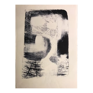 Mid Century Jerry Opper Abstract Stone Lithograph