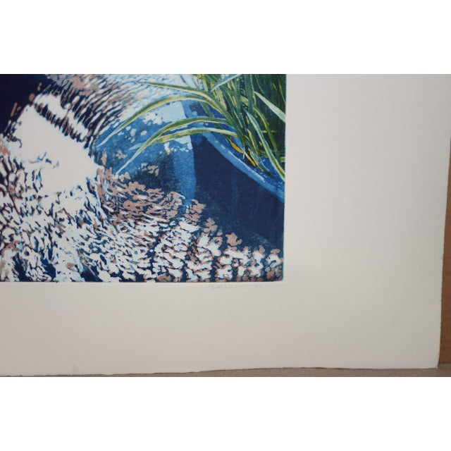 """Vintage Koi Pond """"Second June"""" Etching W/ Aquatint by Thadd Evans C.1986 For Sale - Image 4 of 11"""