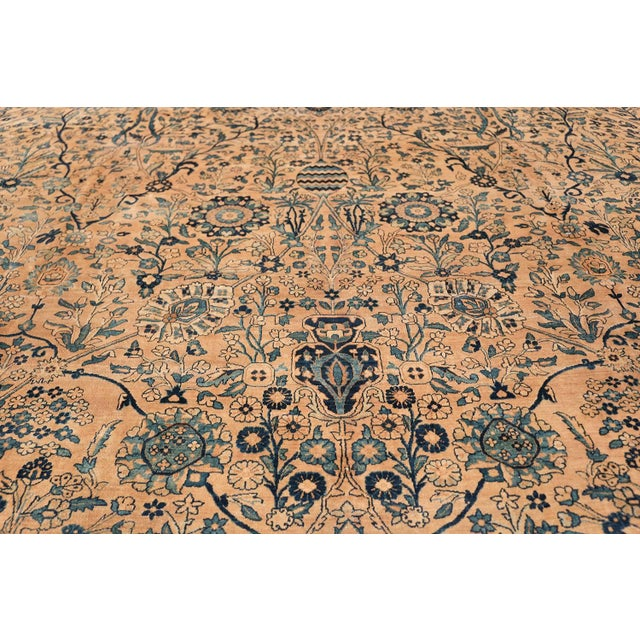 Antique Persian Kerman Oversized Vase Design Carpet - 13′6″ × 25′5″ For Sale In New York - Image 6 of 13