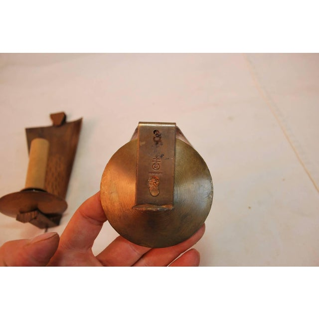 Arts & Crafts Arts & Crafts Copper Sconces Signed Roycroft - A Pair For Sale - Image 3 of 4