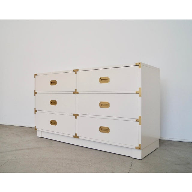 1960s 1960's Mid-Century Hollywood Regency Campaign Dresser For Sale - Image 5 of 13