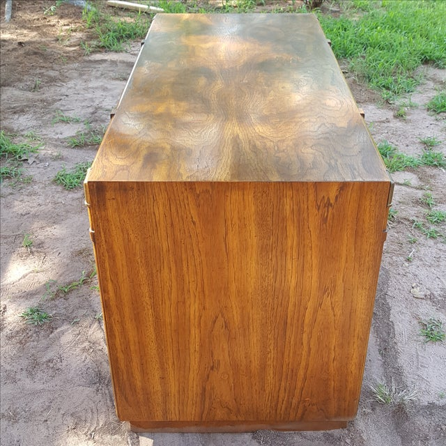 1960s Drexel Campaign Style Desk - Image 4 of 10