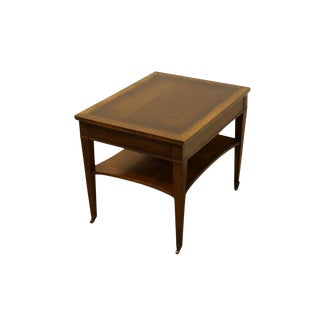 "Lane Furniture Banded Mahogany 21"" End Table For Sale"