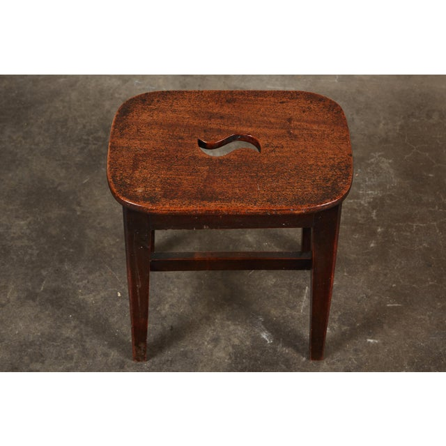Small 19th Century English Georgian Oak Stool - Image 5 of 6