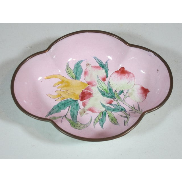 Floral Chinese Enamel Bowls - Set of 4 For Sale - Image 6 of 9