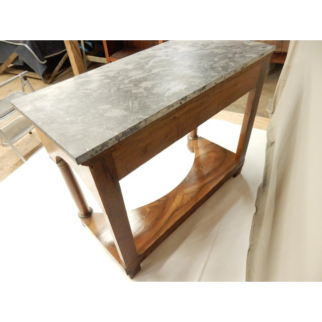 Brown Italian Empire Walnut Console For Sale - Image 8 of 9